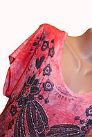 Модная женская футолка. Розовая