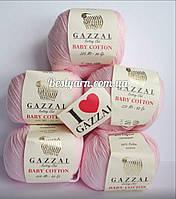 Пряжа Gazzal Baby cotton св. розовый