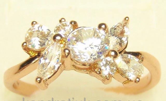 Кольцо миллениум ювелирная бижутерия белое золото кристаллы сваровски