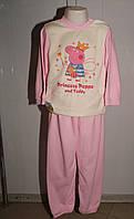 Пижама детская Пеппа с термоаппликацией (начес)