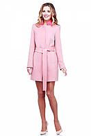 Стильное молодежное пальто демисезонное в модном цвете пудра