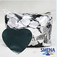 Конфетти фигурное SMENA effects, сердечки, серебро, 0,25 кг, 0,5 кг, 1 кг