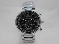 Часы женские Michael Kors - Earth, серебристые с черным циферблатом