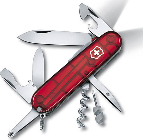 Армейский компактный складной нож Victorinox SPARTAN 17804.T красный