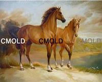 """Алмазная вышивка """"Пара лошадей"""""""