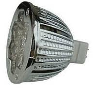 Лампа светодиодная 6Вт, 12 Вольт,  MR16, Epistar 5500K
