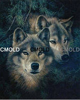 """Набор алмазной вышивки """"Волки под елкой"""""""