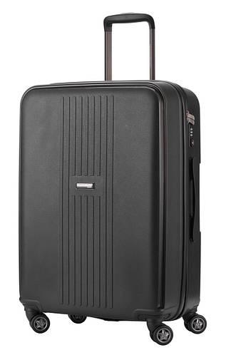 Практичный средний 4-колесный дорожный чемодан 71 л. HAUPTSTADTKOFFER fhain midi graphite графитовый