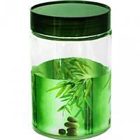 """Емкость для сыпучих продуктов """"Зеленый бамбук"""" SNT- 1,4л, арт. SNT 613"""