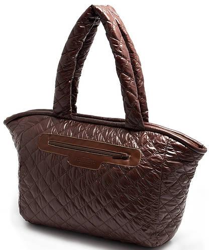 Красивая женская стеганая сумка из болоньи POOLPARTY COCOON pool-brown-cocoon
