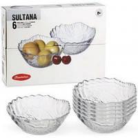 Набор салатников стеклянных (6 шт/12см) Pasabahce Sultana 10286