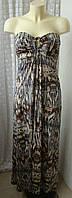 Платье женское летнее легкое нарядное сарафан макси бренд Quiz р.44 5301