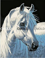 """Алмазная вышивка """"Белая лошадь"""""""