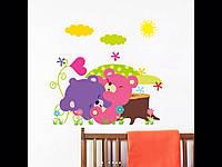 Интерьерные виниловые наклейки для детской комнаты мишки