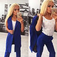 Костюм женский брюки и удлиненный жилет на подкладке размеры С и М