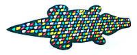 Массажный коврик массажер с цветными камнями Крокодил (р.146х50см)
