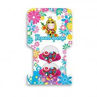 Резинки для волос сердечко с цветком