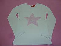 Белая футболка с пайетками звезда