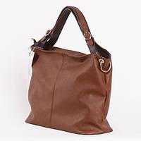 Обьемная коричневая сумка Украина
