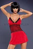 Рубашка Obsessive женская LAMIA CHEMISE красная