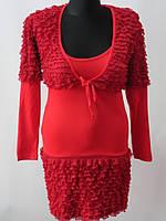 Купить платье женское красного цвета с болеро в Оптовом буме