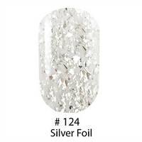 Гель-лак Naomi Gel Polish 124, 6 мл (прозрачный с серебряной слюдой)