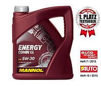 Моторное масло MANNOL ENERGY COMBI LL SAE 5W-30 API SM/CF;  (4л)