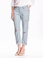 Рваные женские джинсы Boyfriend Old Navy.