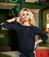 Стильная блуза из крепдешина 42,44,р