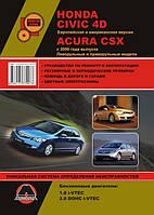 Книга Honda Civic 8 с 2006 Руководство по устройству, ремонту и диагностике автомобиля