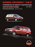 Книга Honda CR-V с 1995 Руководство по обслуживанию и ремонту, инструкция по эксплуатации Honda Odyssey