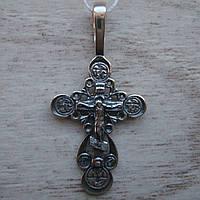 Серебряный крестик с распятием, 2,5 грамма
