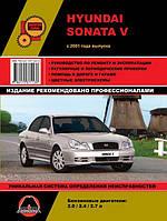 Книга Hyundai Sonata 4 с 2001 Руководство по ремонту, инструкция по эксплуатации и обслуживание автомобиля