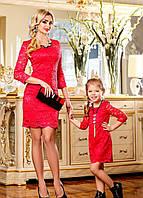 Красивое коктейльное платье для мамы и дочки