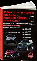 Книга Ssang Yong Korando Руководство по ТО и ремонту инструкция по эксплуатации