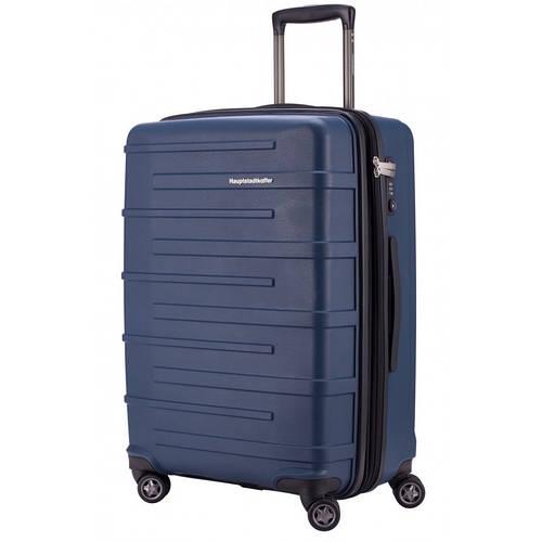 Качественный 4-колесный большой чемодан 87 л. HAUPTSTADTKOFFER ostkreuz midi blue синий