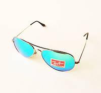 Очки солнцезащитные Ray Ban Aviator со стеклянными линзами RB 3025 103/25