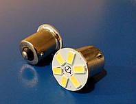 Лампа светодиодная LED 12V 1156 6smd 5630 белая 150 Lm (1111) габарит, стоп, поворот, подсветка салона