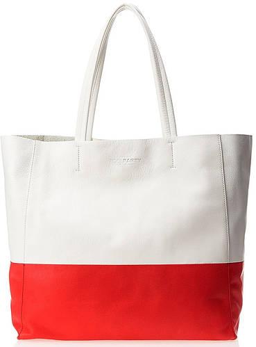 Модная женская кожаная сумка POOLPARTY Devine devine-white-red