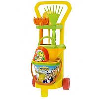 Игровой набор Маленький садовник с тележкой Wader 10770