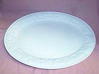 """Блюдо керамическое большое белое """"Винград"""" 47х37 см"""