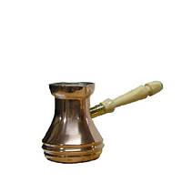 Медная цельная турка для варки кофе 130 мл со съемной ручкой