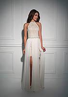 Красивейшее вечернее платье универсального типа, с изысканной каплей на спине