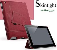 Уникальный чехол книжка для Apple ipad 2 3 4 джинс красный