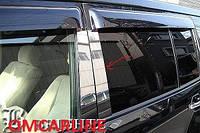 Хром накладки на дверные стойки на Мицубиси Педжеро Вагон-4 с 07> (нерж.)