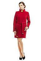 Кашемировое пальто женское демисезонное, бордо