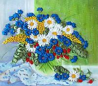 """Набор для вышивания лентами """"Полевые цветы на окне"""""""