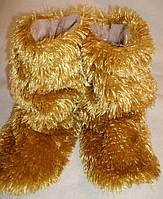 Тапочки-сапожки тёплые для дома травка КТ-2