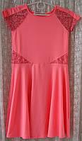 Детское платье нарядное яркое модное розовое бренд Freespirit р.11-12 лет 5391
