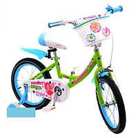 """Азимут Ангел Детский двухколесный велосипед """"Azimut Angel"""" 14 дюймов,  с корзинкой"""